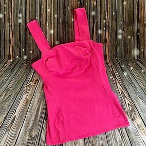 NEW Express Sexy Stretch Vintage Hot Pink Top